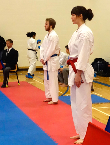 Preparing to compete in the kata division